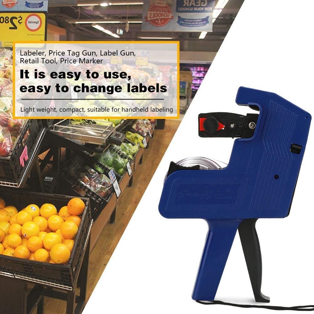 Maxmartt Include Labels /& Ink Refill blue 8 Digits Label Maker Machine Price Tag Gun Label Maker