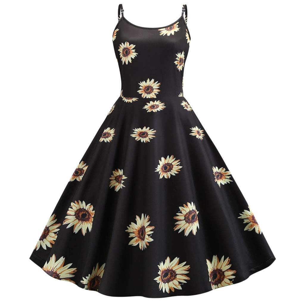 9874cdbb29c4 Amazon.com: Redacel Women's Vintage Dress, Printed Casual Evening ...