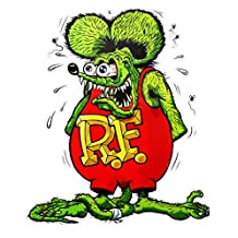 Rat Fink Version 2 Decal 5.5""