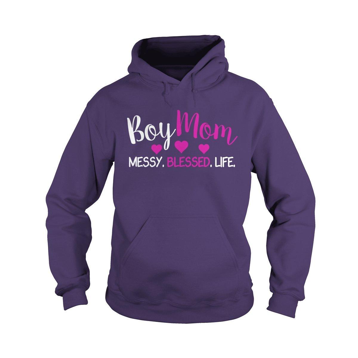 Hoodie Purple XLarge Boy mom Messy Blessed Life TShirt