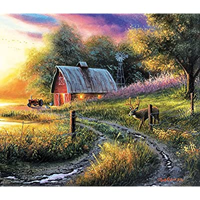 Sunsout 55129 Black The Evening Route Puzzle 550 Pezzi