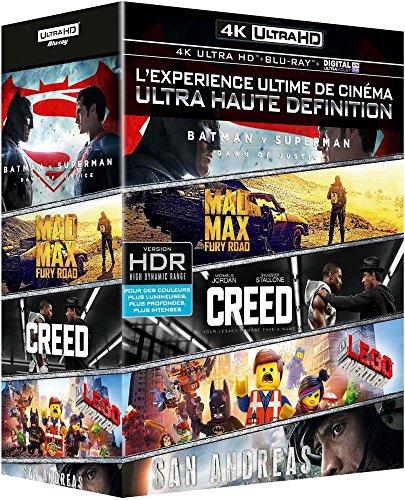 (Ultimate 4K UHD 5 Film Collection Imported Region Free Includes 4K UHD & Blu-ray San Andreas, Mad Max Fury Road, Batman Vs Superman, Lego Movie &)