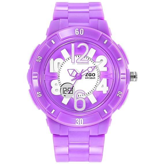 niñas ven/Simple chicas lindas impermeabilizan relojes digitales-púrpura