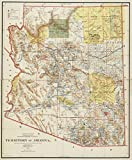 Historic Map | 1897 Territory of Arizona | Antique Vintage Reproduction