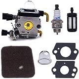 FitBest Carburetor for Stihl FS38 FS45 FS46 FS55 FS74 FS75 FS76 FS80 KM85 Trimmers with Spark Plug + Fuel Filter + Air Filter+Primer Bulb + Gasket