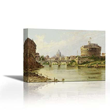 Amazon.com: US Art The Tiber With The Castel SantAngelo and St ...