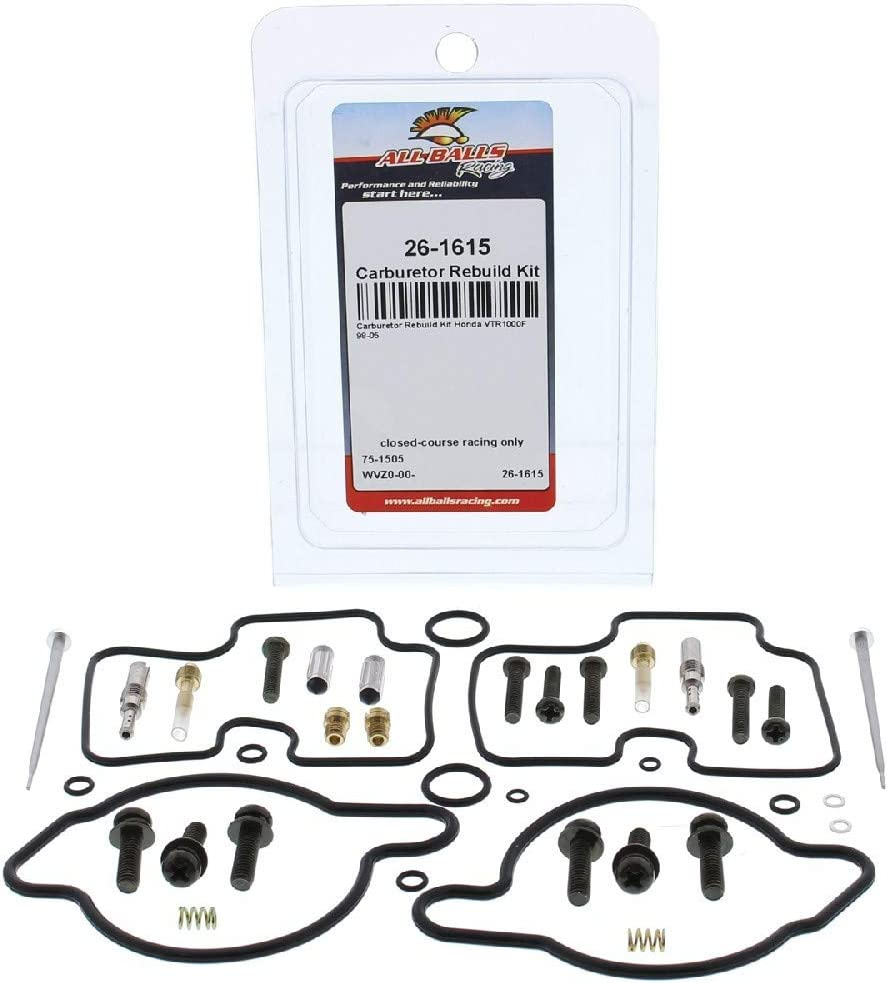New All Balls 26-10065 Carburetor Rebuild Kit Compatible With//Replacement For Honda CR500R 1985