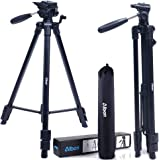 """Albott Camera Tripod 64"""" 163cm Aluminum Lightweight Travel Portable Tripod with 3-Way Head, Tripod Bag, and Spare 1/4"""" Quick Release Plate for Camera Dslr Mobile"""