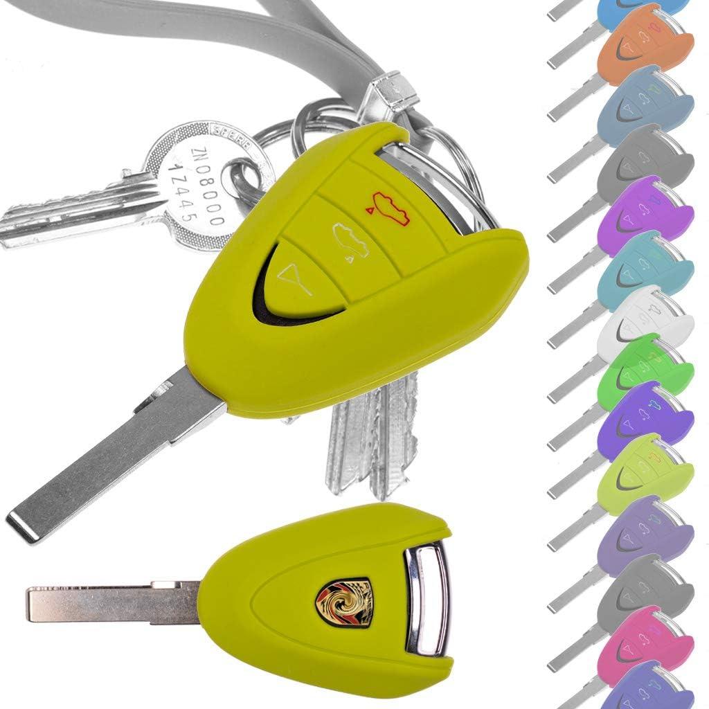 Auto Schlüssel Hülle Silikon Schutz Cover Grün Für Porsche 911 997 987 Boxster Cayman