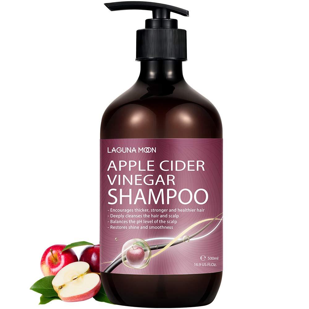 Lagunamoon Apple Cider Vinegar Shampoo, Biotin & Castor Oil for Hair Loss,Hydrate & Strengthen Hair, 500ml Hair Loss Shampoo for Men & Women