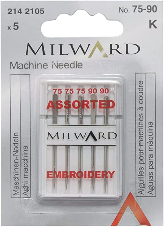 Milward 2142105 - Aguja para máquina de Coser: Amazon.es: Hogar