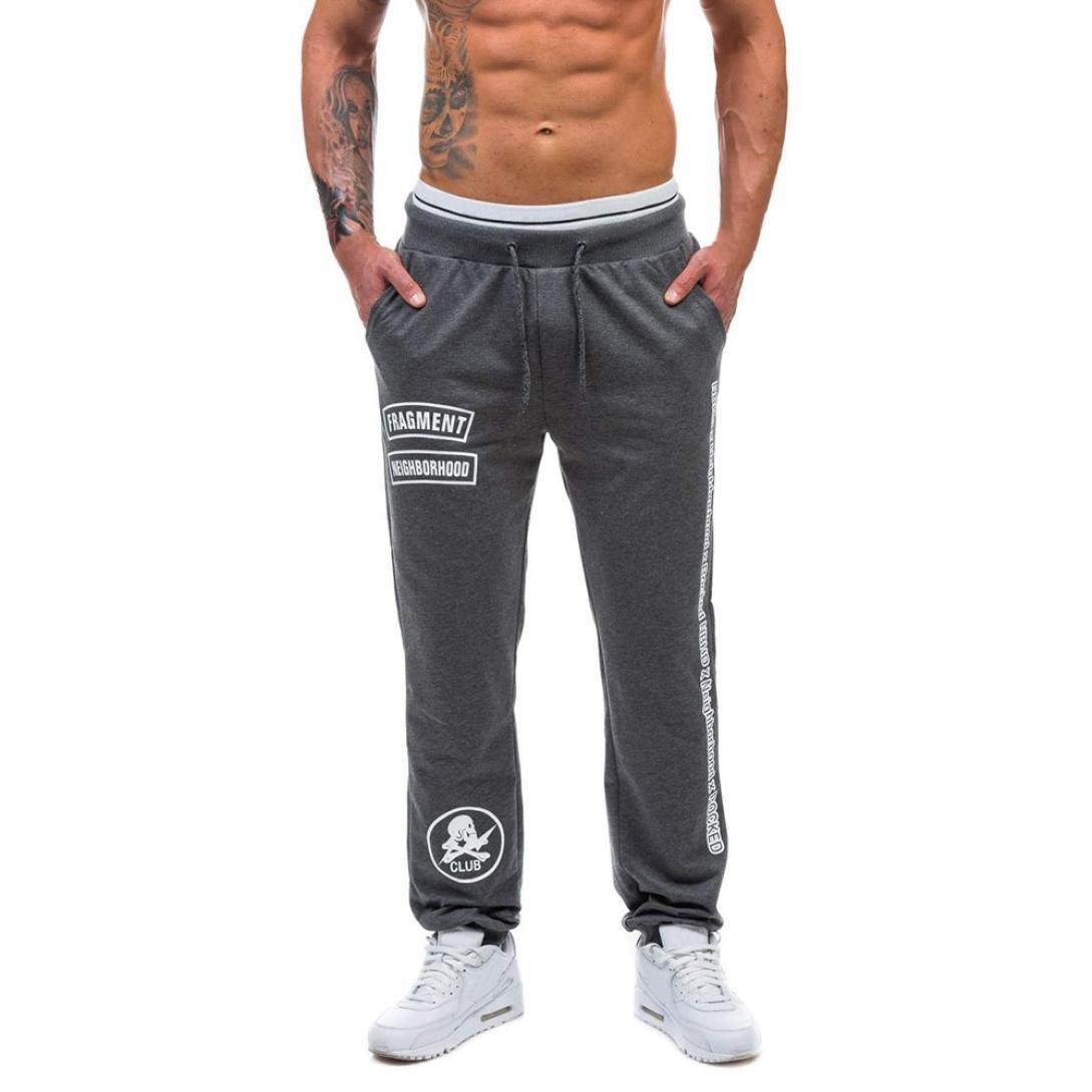 Amlaiworld Pantalones de Deporte de hombres pantalones jogger casuales Sportwear Pantalones de harén holgados para hombre: Amazon.es: Deportes y aire libre