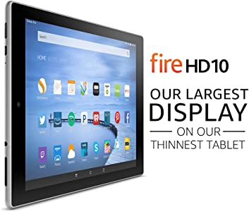 "Fire HD 10 Tablet with Alexa, 10.1"" HD Display, 32 GB, Silver Aluminum - with Special Offers (Previous Generation - 5th)"