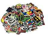 (US) Cool Sticker 100pcs Random Music Film Vinyl Skateboard Guitar Travel Case Sticker Door Laptop Luggage Car Bike Bicycle Stickers (150pcs)
