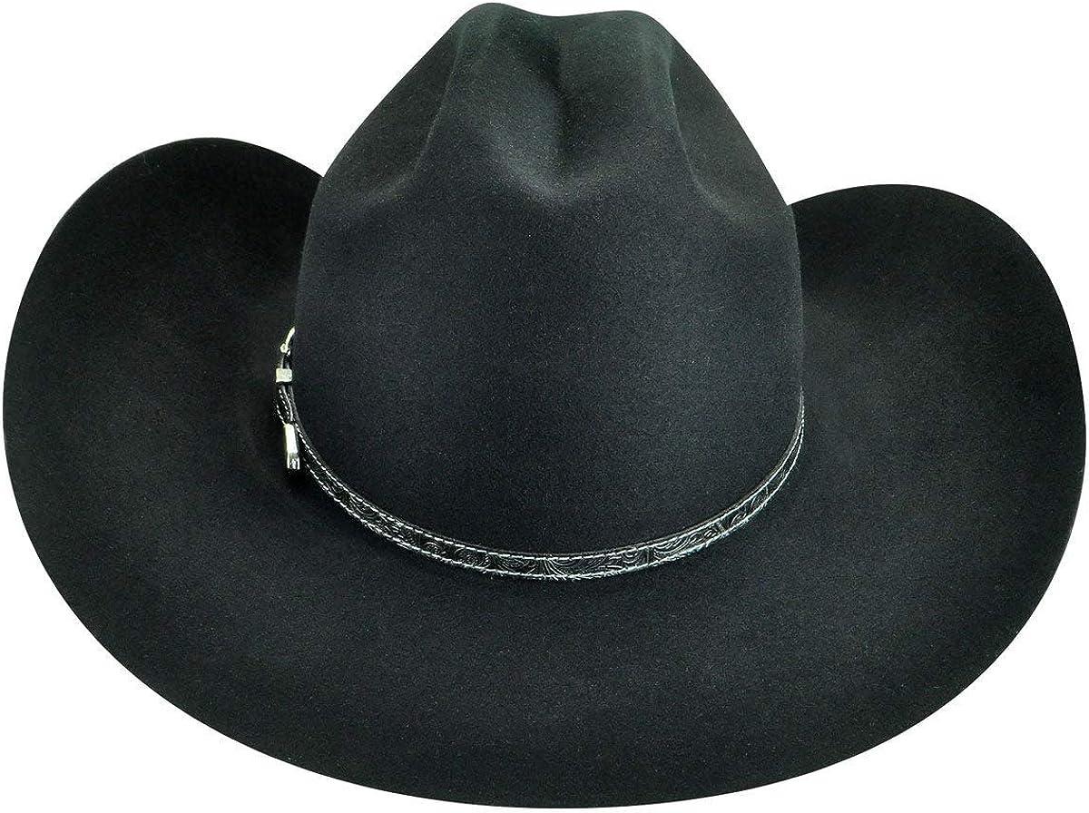 Bailey Mens Roderick 3X Premium Wool Felt Cowboy Hat W1503d-Black