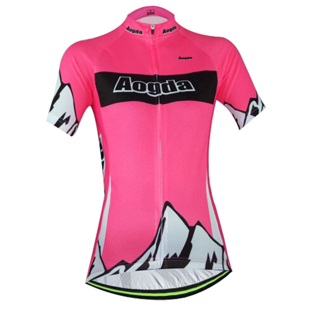 Uriah Women's Cycling Jersey Polyester Short Sleeve Peak Red Size S by Uriah
