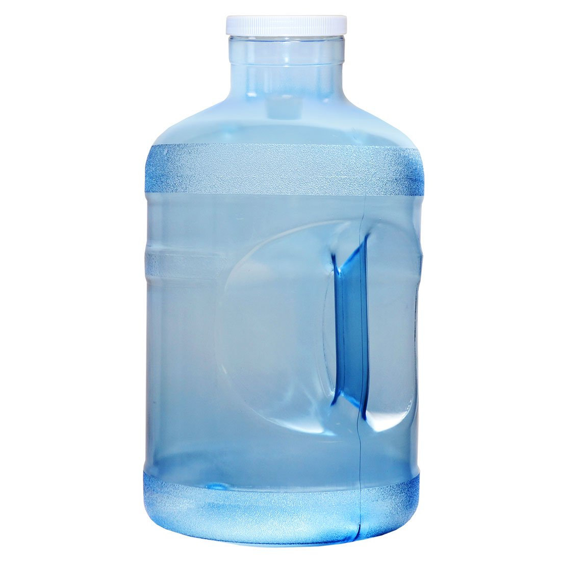 For Your Water 1 Gallon 3.7 Liter BPA Free FDA Approved Plastic Reusable Sport Water Bottle Container Jug with Handle and with 48MM Screw Cap 6.5 x 11. 5 - Blue - Made in the USA by For Your Water BT110BANB
