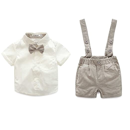 788c278dfb44 Razou Baby Boy Outfit Baby Boy Wedding Outfit Gentleman Party Suits, Short  Sleeve T-