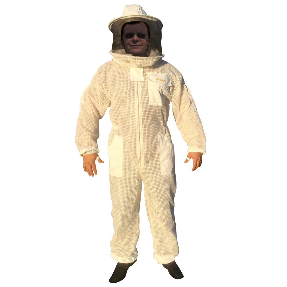 Bee Smart 411 Ventilated Heavy Duty Bee Keeping suit with Round Veil (XL)