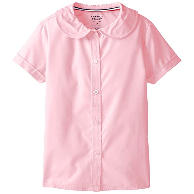 042a450e91f Image Unavailable. Image not available for. Color  French Toast Girls Short  Sleeve Peter Pan Blouse ...