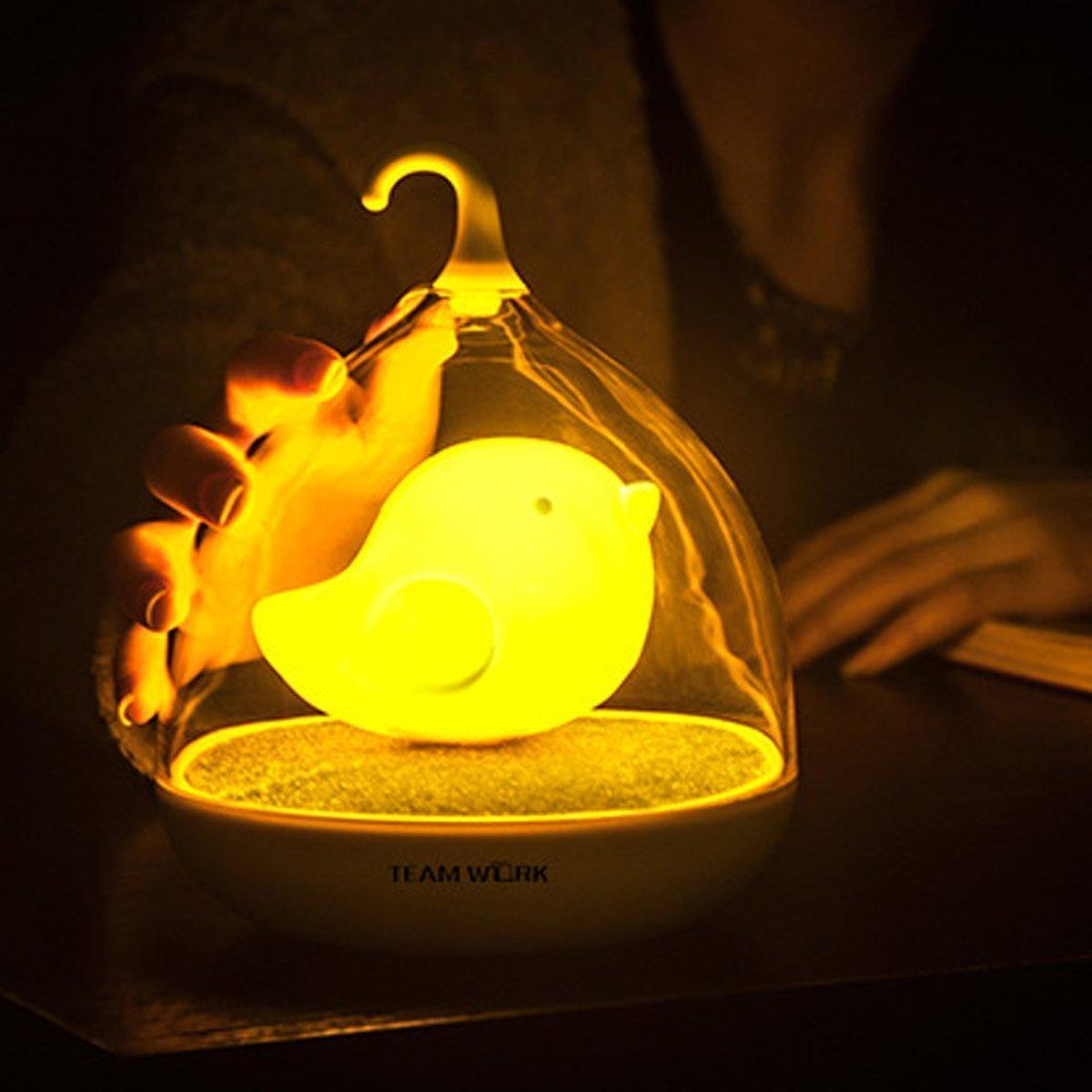 creative led lighting. Bird Cage Lamp,Senhai Creative Rechargeable Birdcage LED Night Light Intelligent Touch Sensor Lights Sleeping In Fairy Tale, Unique Gift For Kids/ Baby Led Lighting R