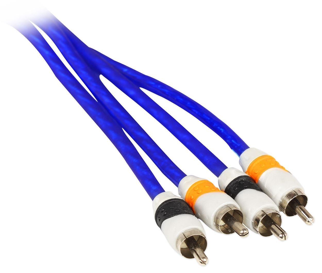 Rockville Rda0 4k 0 4 Gauge Dual Amplifier Installation Translucent Power Ground Wire Multiple Amp Kit Cell Phones Accessories