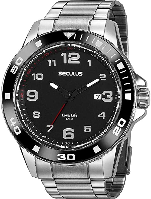 Relógio analógico, da Seculus