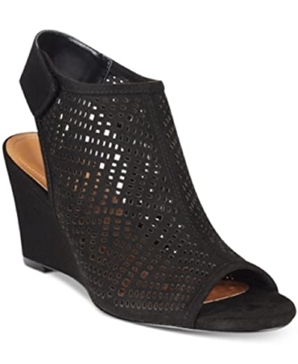 Style Co. Heatherr Wedge Sandals Black 9.5m