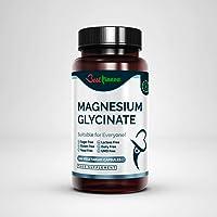 Improved Magnesiumglycinat formula 500mg Premium Quality Natural Product Ideal Strength 100 Vegan Capsules Highest…