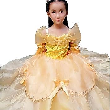 Disfraz de princesa Belle Aurora Cenicienta para niñas pequeñas y ...