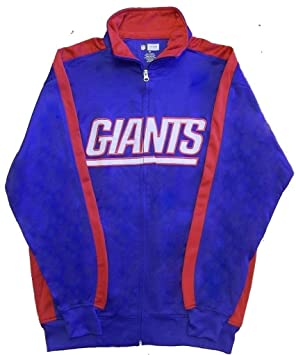 New York Giants nfl zona final cremallera completa Mens chaqueta ...