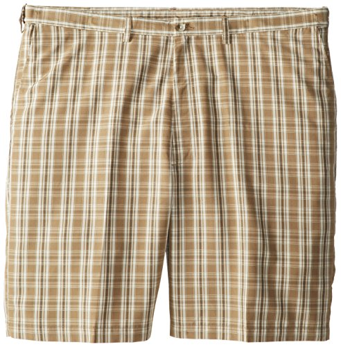 Haggar Men's Big-Tall Cool 18 Expandable Waist Plaid Windowp