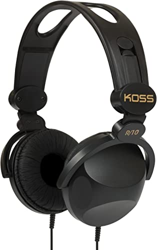 Koss R-10 On-Ear Headphones Black 8-foot cord Lightweight