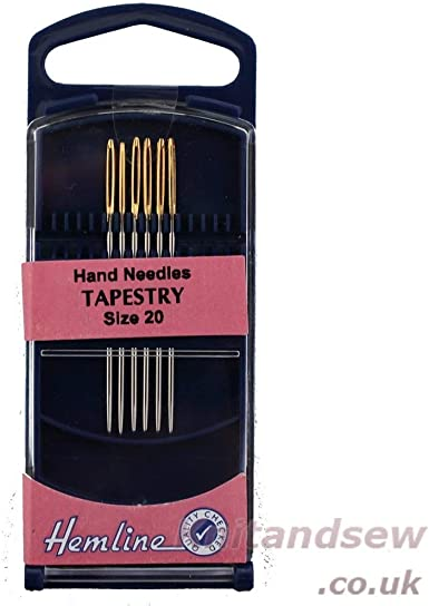 Hemline Premium Tapestry Hand Gold Eye Sewing Needles In Various Sizes