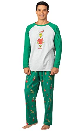 Mens Christmas Pajamas.Pajamagram Fun Mens Christmas Pajamas Grinch Pajamas For