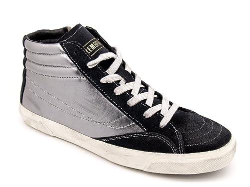 Bikkembergs - Zapatillas de Piel para hombre Plateado Plata: Amazon.es: Zapatos y complementos