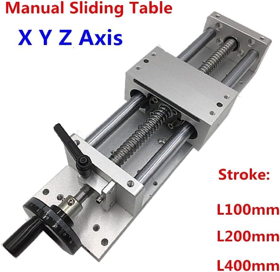 Manual Sliding Table L300mm SFU1605 Cross Slide Milling Workingtable XYZ Axis