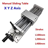 Linear Stage Actuator 400mm Manual Sliding Table