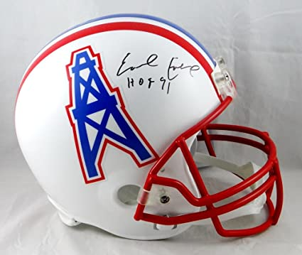 official photos 1396f de92f Amazon.com: Earl Campbell Signed F/S Houston Oilers 81-96 TB ...