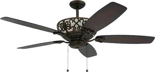 TroposAir Excalibur 60″ Rubbed Bronze Ceiling Fan