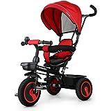 fascol 4 in 1 dreirad klappbar kinderwagen tricycle f r. Black Bedroom Furniture Sets. Home Design Ideas