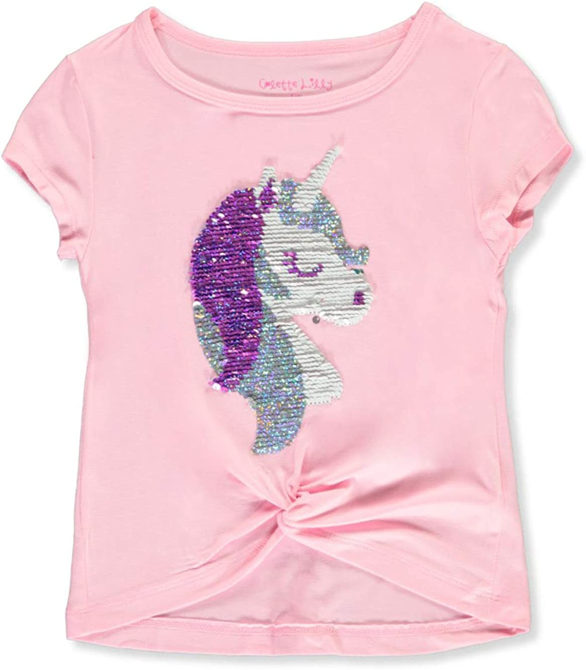 Colette Lilly Girls Flip Sequin Unicorn Top