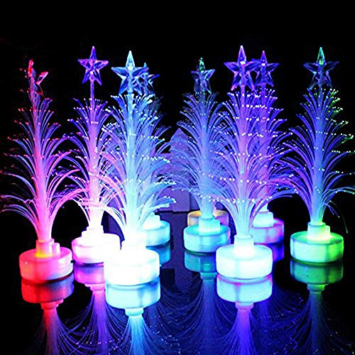 7 Color Christmas Xmas Tree Fiber Optic Led Night Light in US - 3