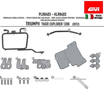 Amazon.com: GIVI PLR6408 Rapid Release Monokey Tubular Side-Case Holder - Triumph Tiger Xplorer 1200 (2016+): Automotive