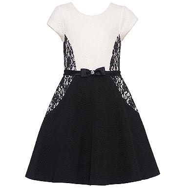 Amazon.com  Bonnie Jean Little Girls Lace Inset Skater Dress  Clothing c906b7d91