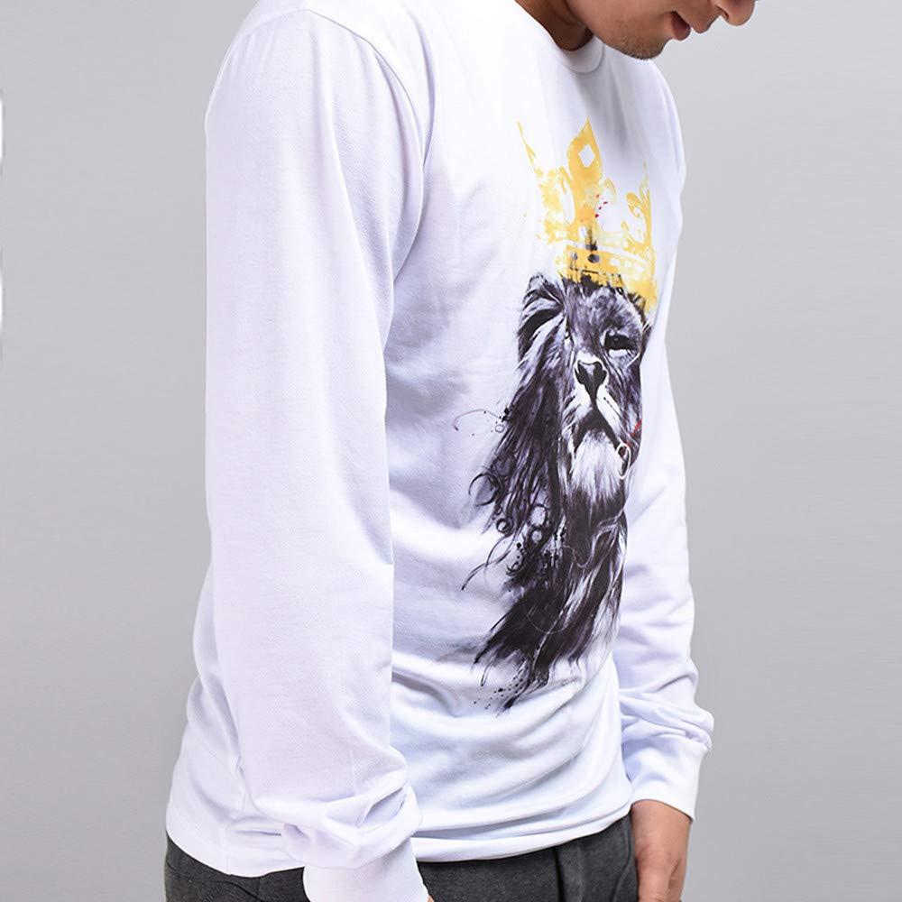 Rawdah_Sudaderas Hombres con Capucha Otoño Invierno Casual 3D Imprimir León Hip Hop Manga Larga Pullover Blusa Superior Sudaderas Hombre: Amazon.es: Ropa y ...