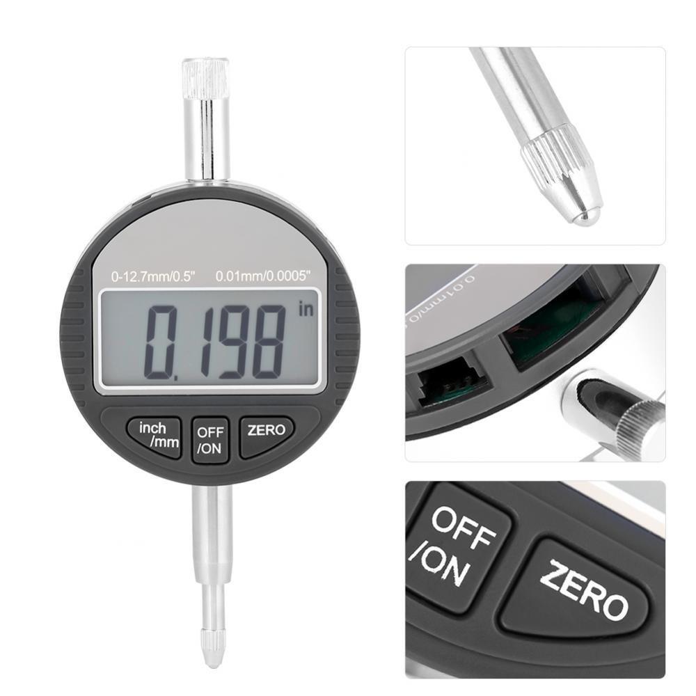 0.5 Clock DTI 0.01mm Digital Probe Indicator 0.0005 Digital Gauge Test Indicator Digital Centesimal Comparator Gauge 0-12.7mm