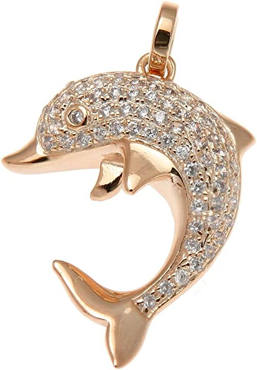 15mm Silver Yellow Plated Dolphin Charm