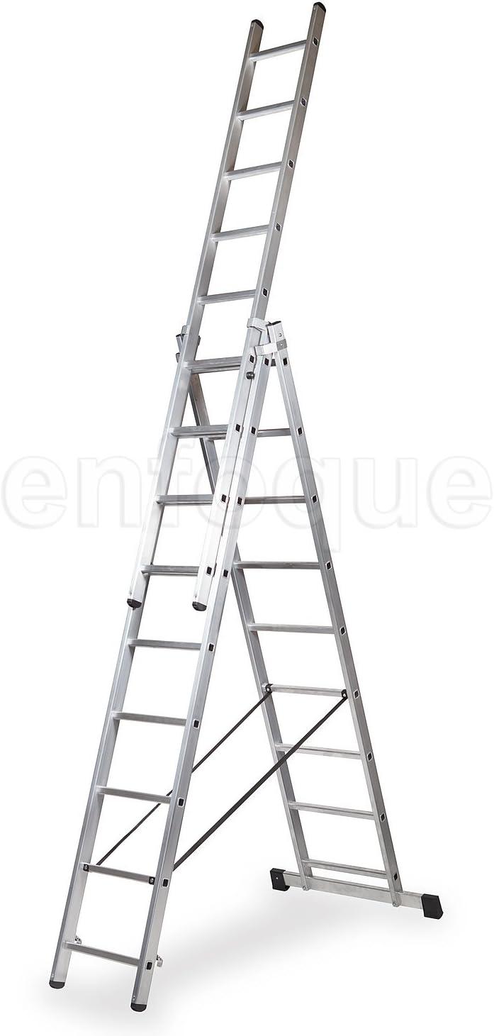 ALTIPESA Escalera Profesional de Aluminio Triple Tijera un Acceso ...