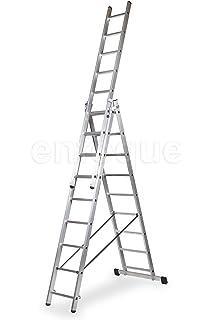 WOLFPACK LINEA PROFESIONAL 23020009 Escalera Aluminio 3 Tramos 7 Peldaños: Amazon.es: Bricolaje y herramientas